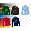 Koszlka Polo Rugby długi rękaw 300 g/m2 SCRUM VALENTO