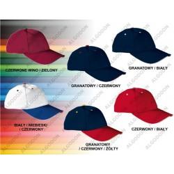Bawełniana czapka z daszkiem trzy kolory SANDWICH