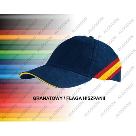 czapka bawełniana z flagą hiszpańską FURIA