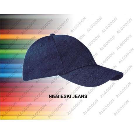 czapka z daszkiem jeans gruba bawełna TEXAS