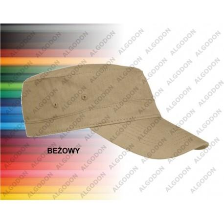 czapka bawełniana z daszkiem beżowa ARMY