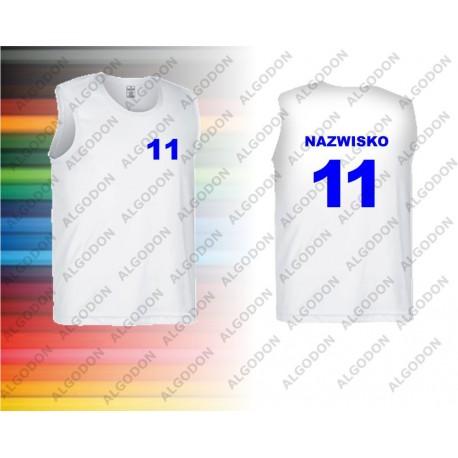 Koszulki sportowe bez rękawków oddychające z własnym nadrukiem np. zawodnika firmy VALENTO