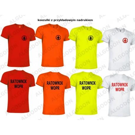 T-shirt koszulka oddychająca RATOWNIK WOPR rozmiary dziecięce i dorosłe VALENTO