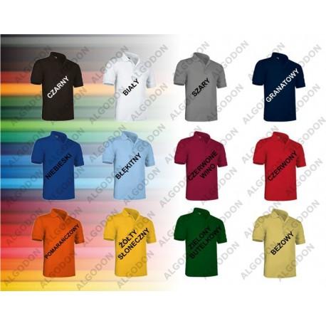Koszulka POLO VALENTO ULISES mix 50/50 bawełna poliester