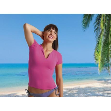 Koszulka damska 90% bawełna Cancun dekolt w łezkę