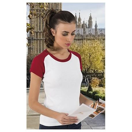 T-shirt koszulka damska dwukolorowa London Valento