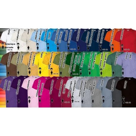 T-shirt gruba bawełna 180g dorosłe rozmiary XS-2XL Racing
