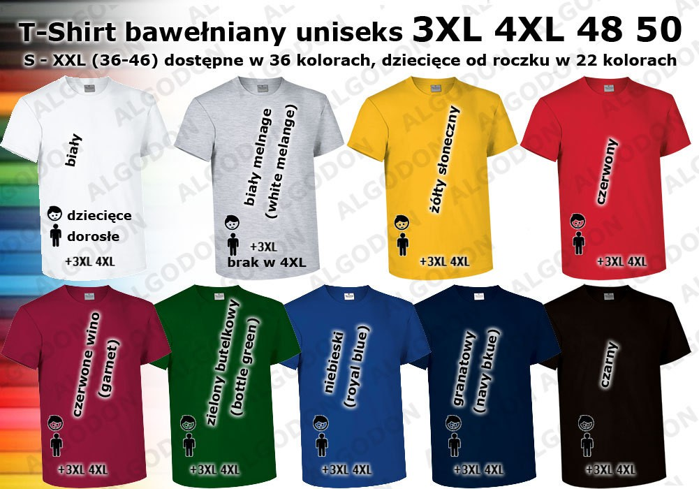 e049effce Duże rozmiary koszulka bawełniana XXXXL