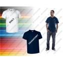 T-shirt V-Neck z kieszonką S-2XL MOON VALENTO