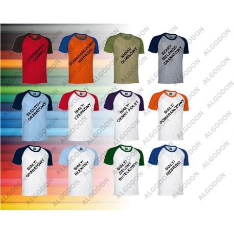 T-shirt dwukolorowy z krótkim rękawem XS- 2XL CAIMAN VALENTO