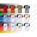 T-shirt dziecięcy koszulka dziecięca dwukolorowa z krótkim rękawem reglan XS- 2XL i dziecięcy CAIMAN VALENTO