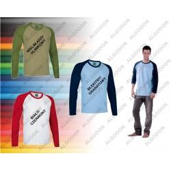 T-shirt długi rękaw dwukolorowy XS-2XL BREAK VALENTO