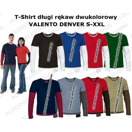 koszulka dwukolorowa z długim rękawem Denver