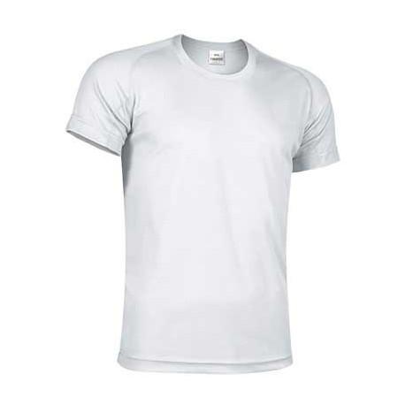 Biały T-shirt koszulka sportowa techniczna termoaktywna oddychająca szybkoschnąca poliestrowa bielizna termiczna CrossFIT