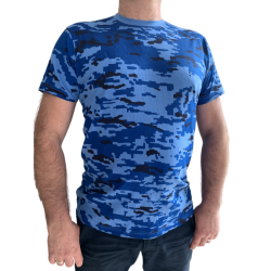 T-shirt koszulka moro bawełna 200g/m2 woodland Jungle pustynna niebieska leśna niebieska