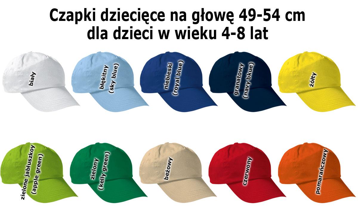 dziecięce czapki z daszkiem bawełniane szkoła przedszkole