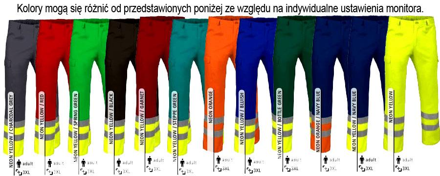Spodnie odblaskowe robocze. Odzież ostrzegawcza EN471