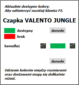 Czapka JUNGLE